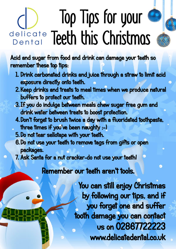 Delicate Dental Christmas Tips