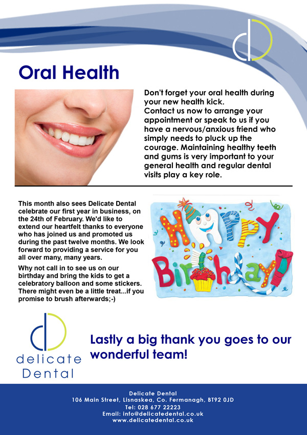 Delicate Dental February Newsletter